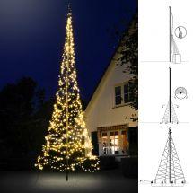 LED Lichterbaum «Neo» 300 warm-weissen LED, inkl. Fiber-Teleskopmast 2 m