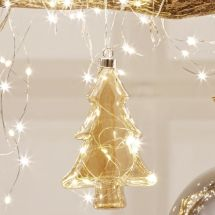 LED Glas-Tannenbaum «Angel Hair»