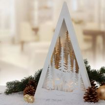 Winterlandschaft «Triangel» mit LED Beleuchtung, Batteriebetrieben