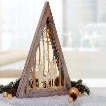 LED Diorama «3D» mit LED Beleuchtung «Pyramide mit Hirsch Design»