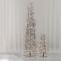 Arbre LED «Angel Hair», silver