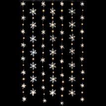 LED Lichtervorhang «Schneeflocken»