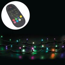 LED Einzelstrang mit 80 bunte LED, mit Fernbedienung, 8 m