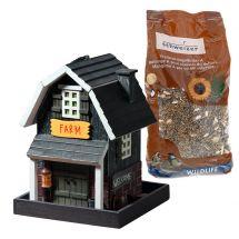 Maison-mangeoire pour oiseaux «Farm» incl. 1 kg de nourriture pour oiseaux de Eric Schweizer