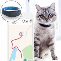 Tractive GPS Tracker für Katzen inkl. Halsband schwarz/blau