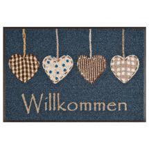 Fussmatte «Willkommen Herzen» 50×75 cm