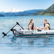 INTEX Schlauchboot «Mariner», inklusive Elektromotor, Halter, 2 Paddel und Luftpumpe, für 3 Personen