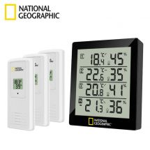 National Geographic Thermo-hygromètre digital, 4 pièces