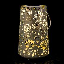 Solar LED Laterne XL «Flower Antik» white