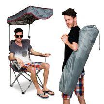 Chaise de camping avec toit, sac de transport incl.