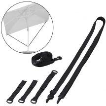 Protection du vent pour parasol déporté