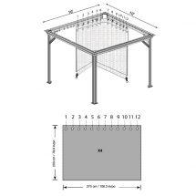 Vorhänge passend zu Pavillon «Messina L»