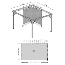 Vorhänge passend zu Pavillon «Messina XL»