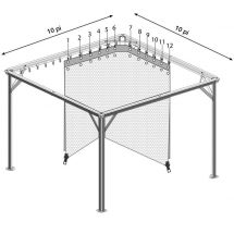 Vorhänge zu Pavillon «Pisa L», 4er Set