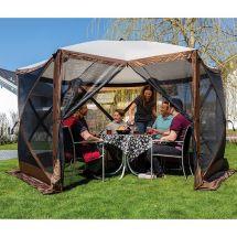 Tente solaire comprenant 4 parois latérales