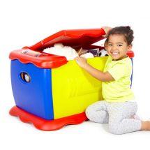 Spielzeugtruhe & Maltisch 2 in 1