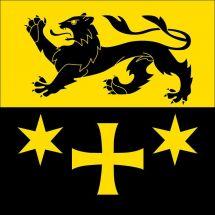 Gemeindefahne 9463 Oberriet SG Superflag® 120x120 cm