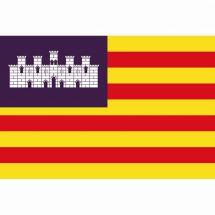 Fahne Region Balearen Spanien