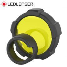 LED Lenser Farbfilter gelb zu Taschenlampe MT18