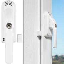 ABUS Fenstergriff mit Alarmfunktion DIN links silber