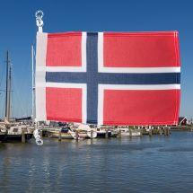 Bootsfahne Norwegen Superflag® 20x30 cm