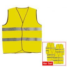 Sicherheitswesten, 4-er Set gelb