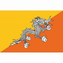 Länderfahne Bhutan Polyester 225x150 cm