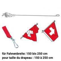 Stabilisateur pour drapeaux avec pièce de raccordement  rouge 1300/28 mm