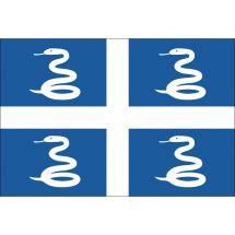 Fahne Gebiet Martinique Frankreich Superflag® 75x50 cm