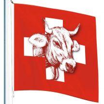Drapeau Suisse «Vache»