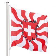 Schweizerfahne klassisch geflammt