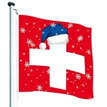 Schweizerfahne «Zipfelmütze» Superflag® 150x150 cm