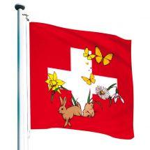 Drapeau Suisse «Printemps» Superflag® 150x150 cm