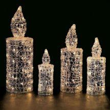 LED Crystal Kerze 32 cm hoch