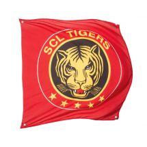 Sportfahne SCL Tigers official Polyester 80x80 cm