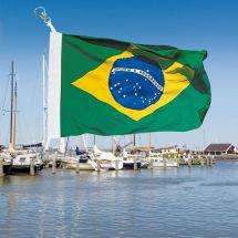 Bootsfahne Brasilien Superflag® 20x30 cm