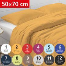 Bettwäsche Kissenbezug «UNI» 50x70, Satin 12 - schwarz