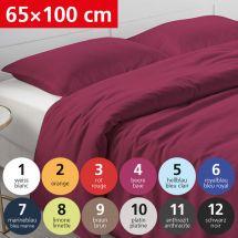 Bettwäsche Kissenbezug «UNI» 65x100, Satin 09 - braun