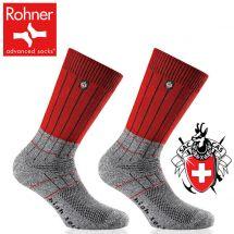 Rohner Trekking-Socken «SAC Edition» Duo Pack grau/rot 36-38
