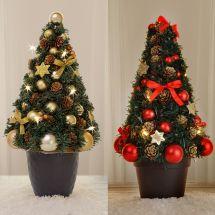 LED Weihnachtsbaum im Topf, Batteriebetrieben