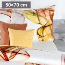 Bettwäsche «Loan», Satin braun 50x70 cm