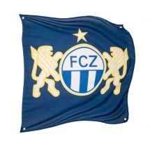 Sportfahne FC Zürich official Polyester 80x80 cm