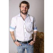 Herren Hemd «Jodler», weiss Baumwolle XXL