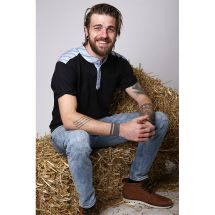 Herren T-Shirt «Murri», schwarz Baumwolle XL