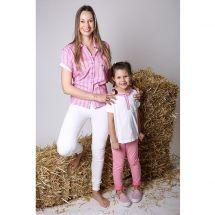 Kinder T-Shirt kurzarm «Grindelwald», rosa Baumwolle 104