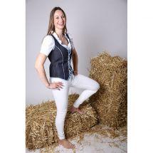 Bluse weiss und Jeans Bustier «Sina Baumwolle L