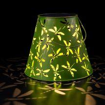 Lanterne solaire LED «Libellules antique»