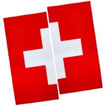Serviette de plage «Croix Suisse», set de 2 100x200 cm