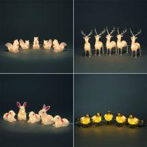 LED Acryl Tiere, 5er Set