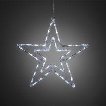 LED Acryl Doppelstern, Ø 58 cm